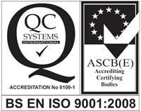 BS EN ISO 9001:2008 accredited