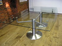 Stainless Steel & Glass Board Room Table