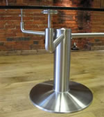 Stainless Steel & Glass Table